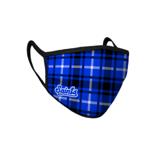 Plaid Sublimated Face Mask
