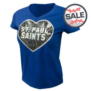 New Era Youth Sequin V-Neck T-Shirt