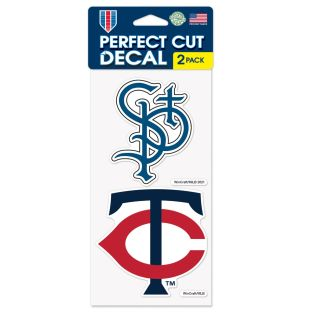 WinCraft 4'' x 8'' Perfect Cut 2-Pack Decal Sheet